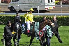 International Horse Racing in Hong Kong Stock Images