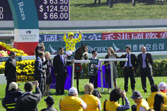 International Horse Racing in Hong Kong Royalty Free Stock Photos
