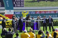 International Horse Racing in Hong Kong Royalty Free Stock Photos