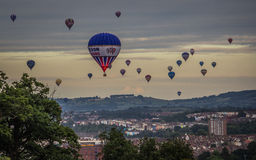 International Hot Air Balloon Fiesta in bristol Royalty Free Stock Photography