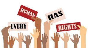 International Human Right day. Every human has rights Stock Images