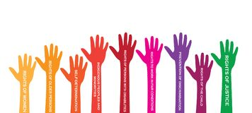 International Human Right day. Every human has rights Royalty Free Stock Images