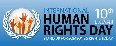International human rights day. On December 10 Background Stock Photo