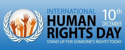 International human rights day. On December 10 Background Stock Illustration