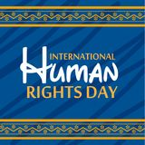 International Human Rights Day. Vector Illustration of a Background for International Human Rights Day Stock Photos