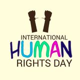 International Human Rights Day. Vector Illustration of a Background for International Human Rights Day Royalty Free Stock Images