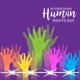 International Human Rights Day. Vector Illustration of a Background for International Human Rights Day Stock Image
