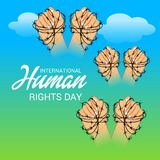 International Human Rights Day. Vector Illustration of a Background for International Human Rights Day Royalty Free Stock Photos