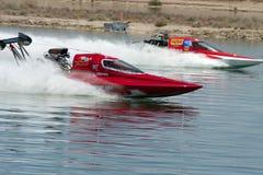 International Hydroplane Boat Drag Racing. Chandler, AZ: IHBA Lucas Oil Drag Boat Racing Series opened its 2009 season at Firebird Lake of Firebird International Royalty Free Stock Photo
