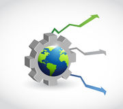 International industrial market graph arrows Royalty Free Stock Images