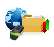 Global info Wireless computer mouse Stock Image