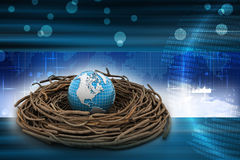 International investments and global finance. In color background Royalty Free Stock Photography