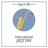 International Jazz Day, April 30 Stock Photography
