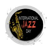 International jazz day. Concept. April 30 Royalty Free Stock Photos