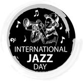 International jazz day. Concept. April 30 Stock Image