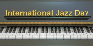 International Jazz Day concept. 3D rendering Royalty Free Stock Photography