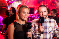 International journalists live broadcasting from E3 2014 Royalty Free Stock Image