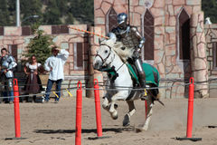 International Jousting Competition. The annual Longs Peak Scottish Irish Highlands Festival is a popular event in Estes Park, Colorado, USA. It attracts Royalty Free Stock Images