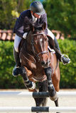 International Jumping Competition Riders veterans Royalty Free Stock Photos