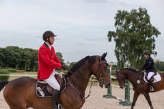 International Jumping Competition. Royalty Free Stock Image