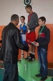 International Junior championship Boxing in Gomel (Belarus). Stock Photo