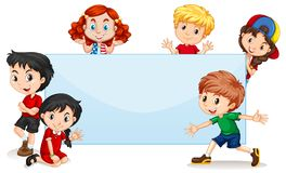 Free International Kids Blank Banner Royalty Free Stock Images - 129977589
