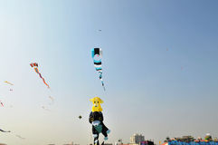 International Kite Festival at Ahmedabad Royalty Free Stock Images