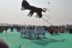 International Kite Festival at Ahmedabad Stock Photography