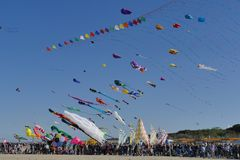 International Kite Festival 2017 - The Acrobatic Competition Stock Image