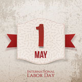 International Labor Day decorative Poster Royalty Free Stock Photography