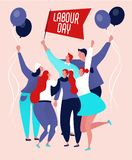 Labour day poster royalty free illustration