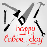 International Labor Day on May 1st. Calligraphy and handmade. Vector Stock Images