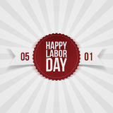 International Labor Day realistic Emblem. Vector Illustration Stock Photo