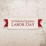 International Labor Day Text on realistic Banner Stock Photos