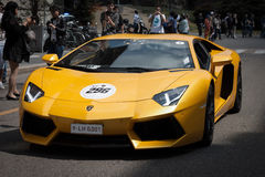 International Lamborghini cars meeting 2013 in Milan Royalty Free Stock Photography