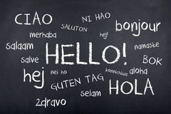 International Languages Hello. Hello in lots of different languages royalty free stock image