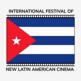 International Latin America cinema day. International festival of Latin America cinema. Flat  illustration Royalty Free Stock Photography