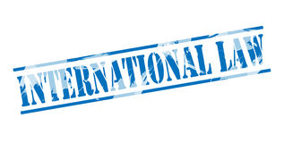 International law blue stamp Royalty Free Stock Image