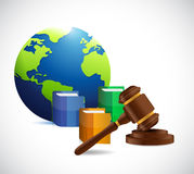 International law. legal concept illustration Stock Photos