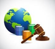 International law. legal concept illustration Stock Photos