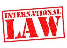 INTERNATIONAL LAW Royalty Free Stock Image