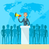 International Leaders President Press Conference Royalty Free Stock Photography