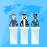 International Leaders President Press Conference Royalty Free Stock Image