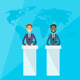 International Leaders President Press Conference Royalty Free Stock Images