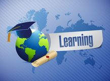 International learning concept sign Royalty Free Stock Photo