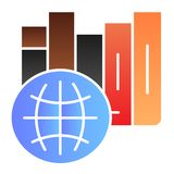 International library flat icon. International education color icons in trendy flat style. Learning gradient style. Design, designed for web and app. Eps 10 vector illustration