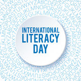 International Literacy Day background. Poster, flyer template. Royalty Free Stock Images