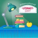 International literacy day concept background, cartoon style. International literacy day concept background. Cartoon illustration of international literacy day vector illustration