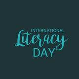 International Literacy Day. Royalty Free Stock Photography
