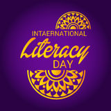 International Literacy Day. Royalty Free Stock Images